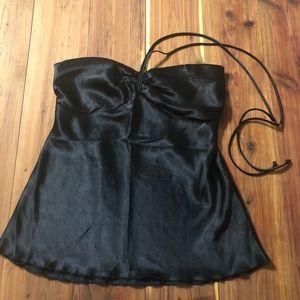 Black Sweetheart Tie-Halter Top